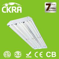 Up to 5 year maintenance free operation 120 degree beam angle led indoor highbay lights 100w with lens