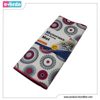 Printed microfiber water retaining kitchen mat