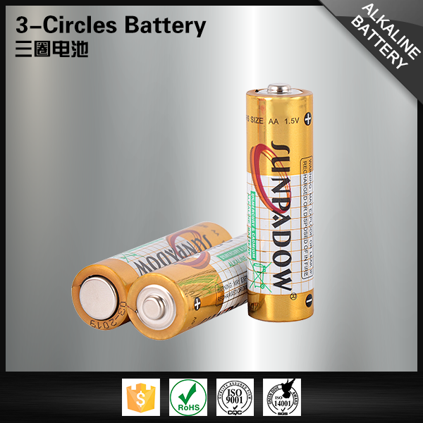 China manufacturers alkaline dry cell 1.5v lr6 aa battery