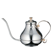 1L Mirror Finish gold stainless steel teapot coffee pot