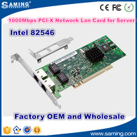 10/100/1000Mbps Original intel 82546 PCI-X Server Network Lan Card Adapter