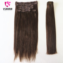 Hot selling remy hair extension clip in , human Hair 22 inch clip on hair extension