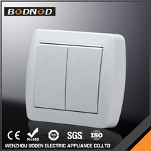 Fire Proof PC Panel electrical 2 Gang 1way european wall switch button