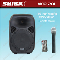 SHIER AK10-201 Portable 10 inches wireless powered amplified subwoofer