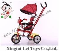 Popular children tricycle kids 3 wheel pedal car with canopy/Baby Tricycle 4in1/Cheap Kid Tricycle bike with music and light