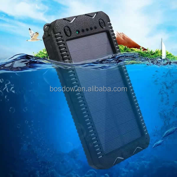 BS-S150C waterproof solar power bank with cigar lighter for iphone 15000mah solar power bank