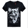 100% Cotton Custom 3d animal men t-shirts, dye sublimation t-shirts