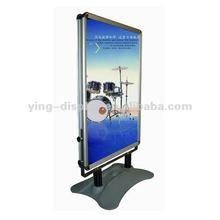 a1 aluminum frame with water filled base poster stand
