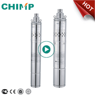 CHIMP 3inch QG 0.75hp three-phase deep well submersible screw water pump