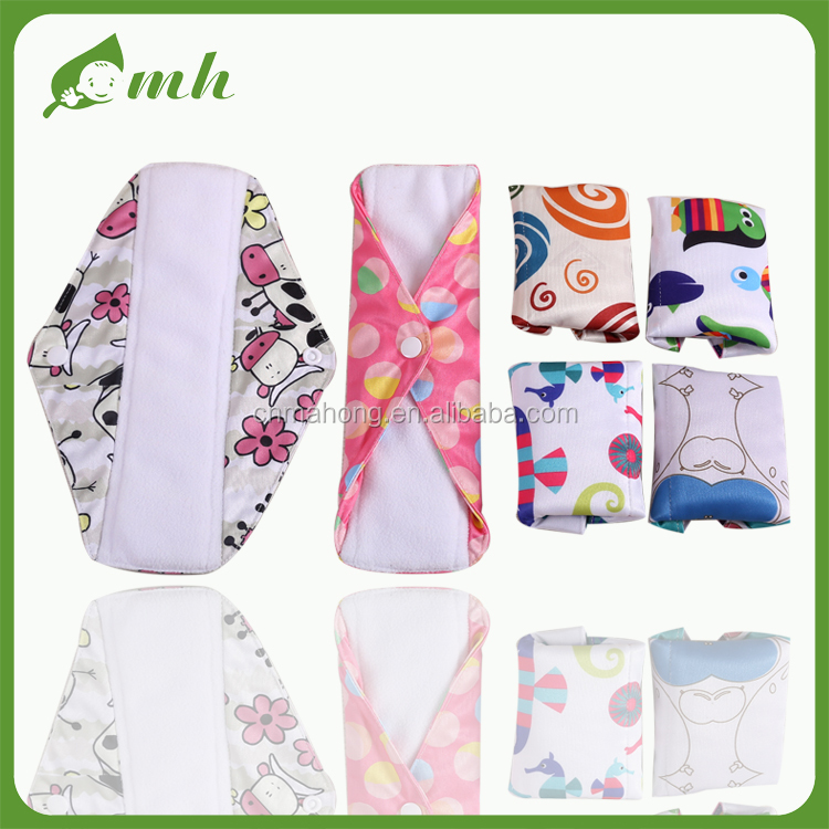 2016 zhejiang oem manufacture bamboo eco-friendly Cloth Sanitary Pads
