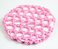 Pink Hair Bun Cover Snood Hair Net Crochet