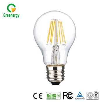 New design hot sale 1050lm 360 Degree Glass 8W edison LED Filament Bulb