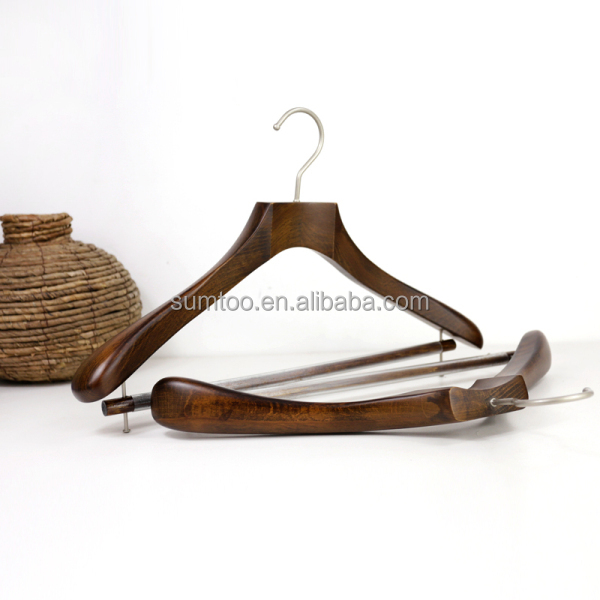 alibaba hanger with function coat wooden hanger high quality clothes hanger