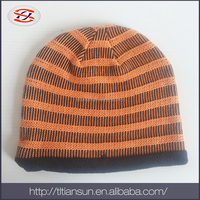 kids knitted hat with pattern china wholesale websites 100%acrylic colorful ski hats
