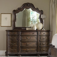 American provincial solid wood bedroom furniture drawers dressing table with mirror