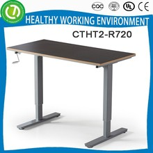 standard office desk dimension manual crank height adjustable table office furniture china