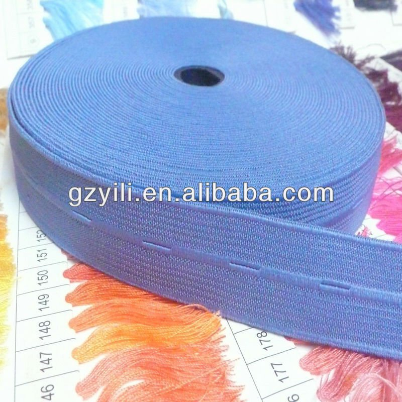 white elastic ribbon with hole