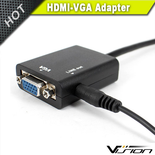 Hot on sale high quality hdmi to mini vga adapter in black