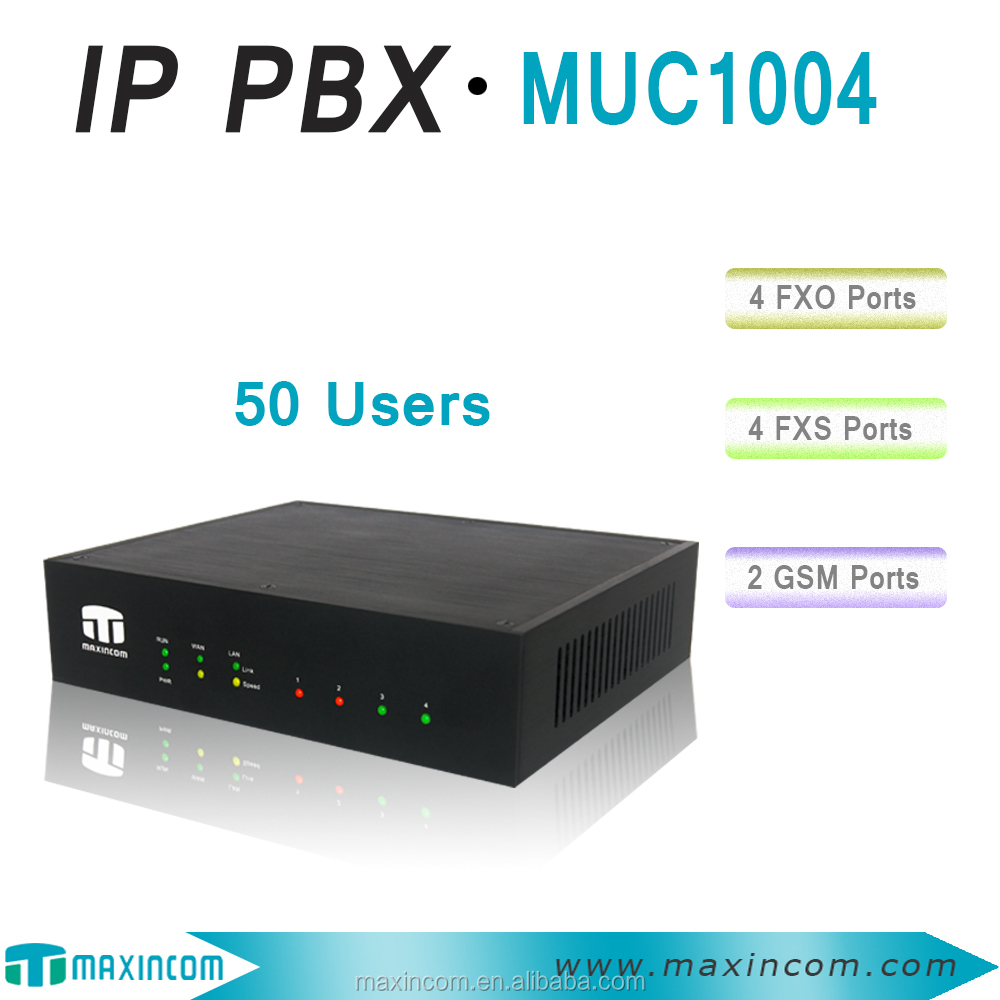 IP PBX 4 Ports/ 50 Users support SIP trunk/ intercom intercom
