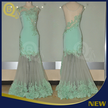 2017 New Arrival Latest Design Tulle Evening Dress Long Style BQ226