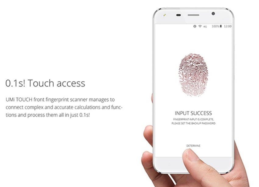 UMI TOUCH 5.5 inch android 6.0 mtk6753 octa-core RAM 3G smartphone fingerprint scanner 4G LTE mobile phone