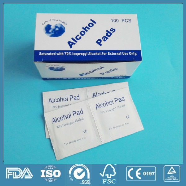 CE ISO certified easy effective safe prep alcohol pad