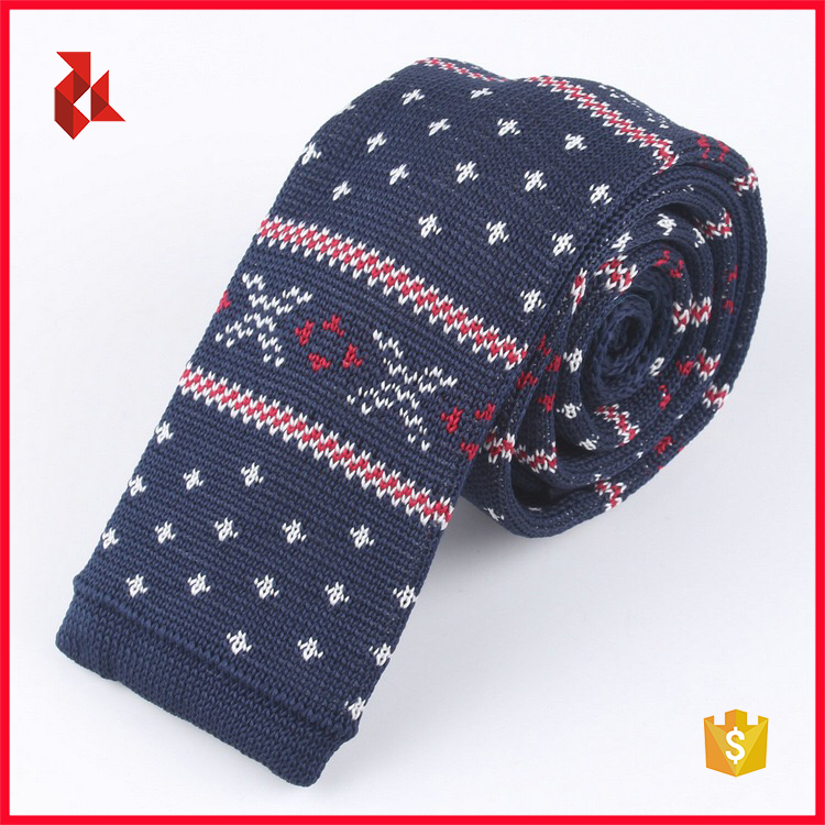 Wholesale Floral Polyester Knitted Necktie