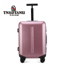 Pink Women's Rolling China Cheap Wheeled Luggage Plastic Suitcase 20 Inch 4 wheels trolley bag