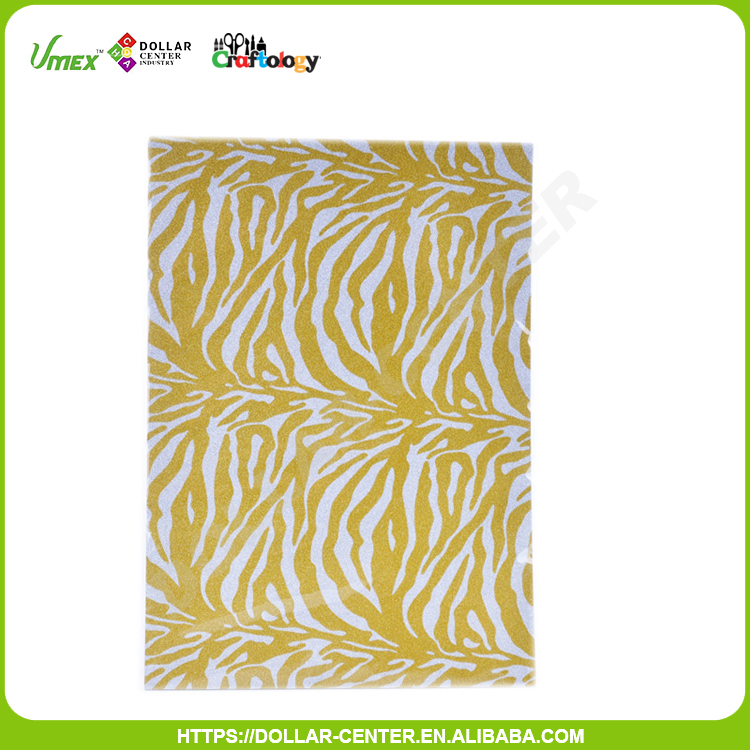 A4 wholesale better price DIY yellow glitter paper cardboard
