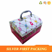 Gift Box Custom Made Paper Cardboard Suitcase Box With Handle