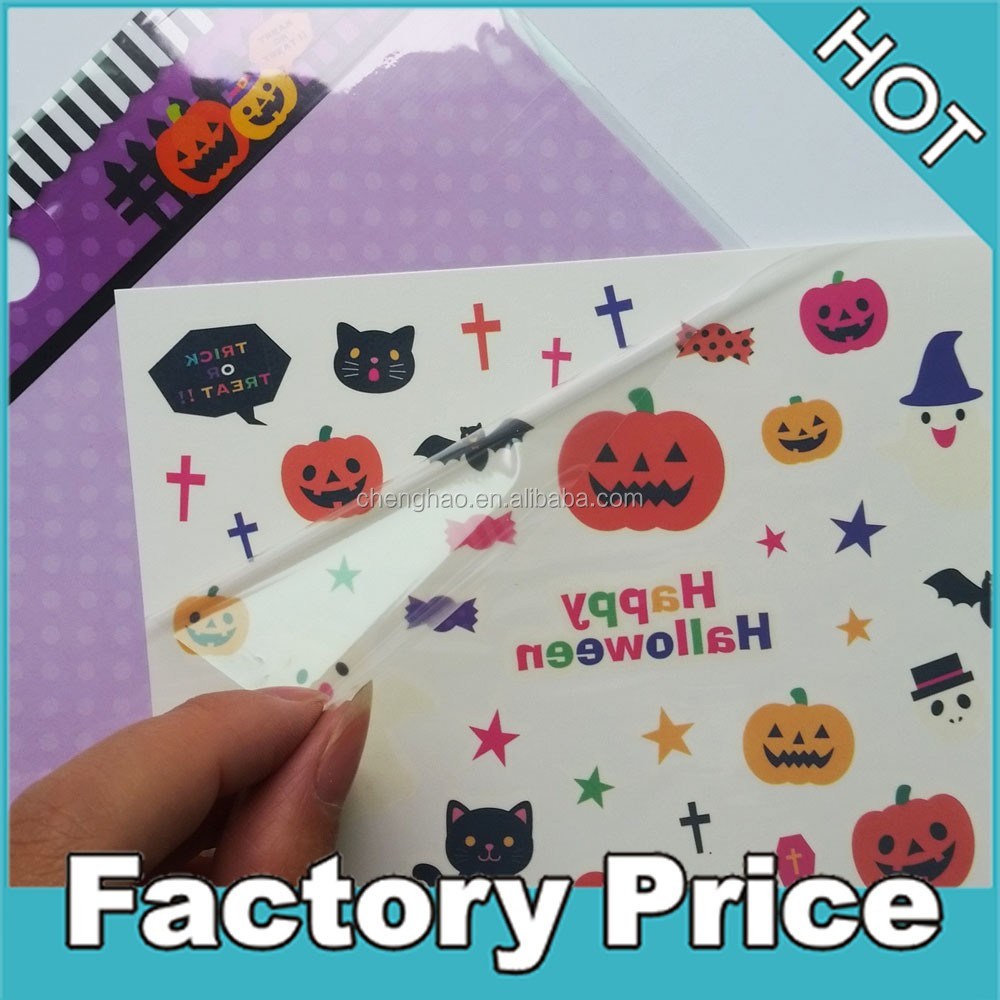 custom halloween tattoo water transfer temporary body sticker kids promotion tatoo