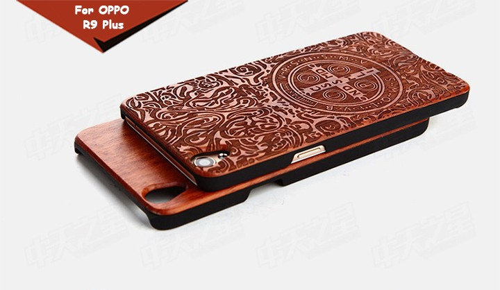 2016 trending products hard wooden smart mobile phone case cover for oppo r9 plus