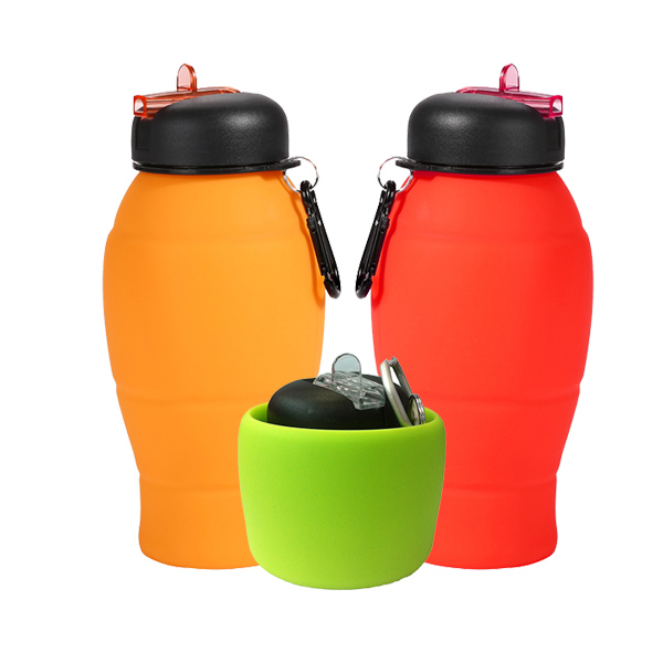 collapsible silicone branded children water bottle