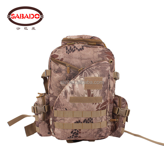 large capacity 600D oxford Outdoor woodland sport backpack Camouflage bag Hiking backpacks