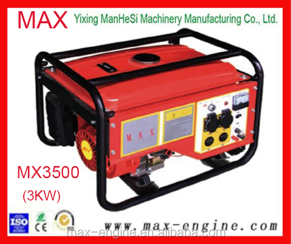 3KW Slient Hand Operated 168F Engine Gasoline Generator MX3500