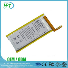 Replacement lithium polymer battery Ipod Nano 5th 3.7V li-ion rechargeable battery