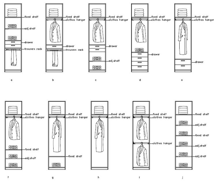 Wooden white wardrobe ready to assemble bedroom furniture for Ready to assemble bedroom furniture