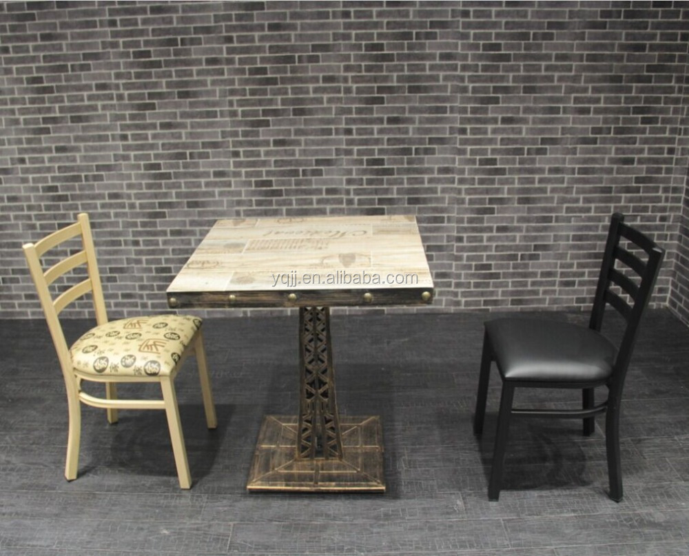 Cheap restaurant table and chair used for sale