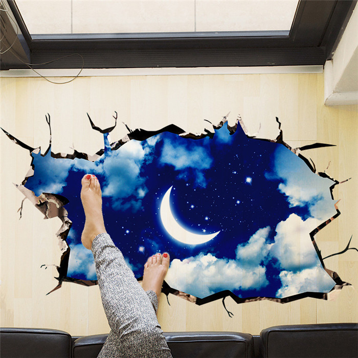 3D Starry Sky Wall Stickers for Home Decoration Casual Painting Wall Sticker