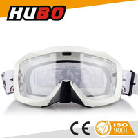 PC anti-fog transparent lens silicone strap high quality motocross helmet goggle
