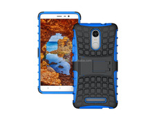 Heavy Duty Dual Layer TPU + PC Hybrid Shockproof Rugged Stand Case Cover For Xiaomi Redmi Note 3
