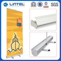 economic aluminum roll up standee,retractable roll up banner stand