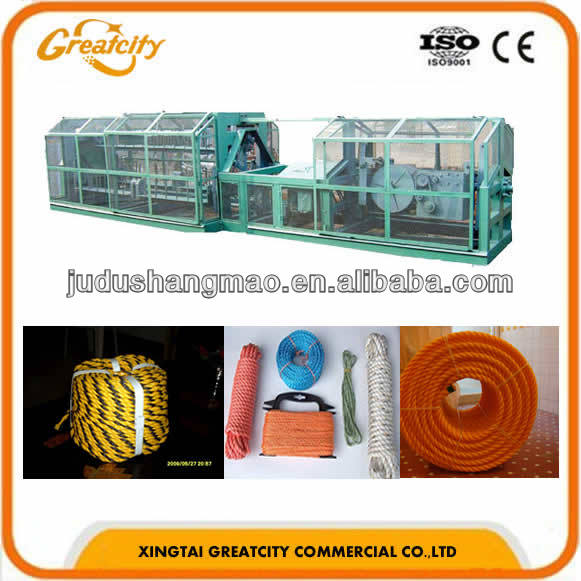 Plastic rope making machine / twisted rope making machine