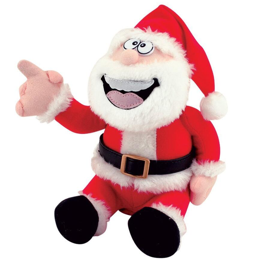 Christmas decorations stuffed santa claus toy