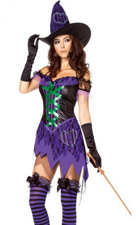 Plus Size 2XL Party Cosplay Dress Carnival Women Girl Costumes 6262 Female Halloween Witch Costume