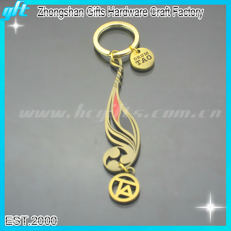 New Lovely Music Note Key chain/Metal Notes keychain GFT-KC983
