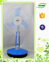 Best price 16inch solar stand table fan 12v 15w rechargeable fan with good quality