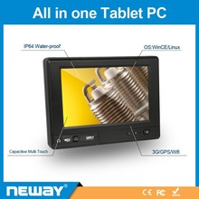 7 inch sim SD card IP64 touch tablet