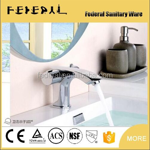 tempure display on body Brass Polished wash basin tap