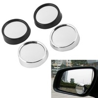 2pcs Car Rearview Mirrors Universal Blind Spot Rear View Mirror Exterior Auto Accessories Mirror Covers Wide Angle Round Convex